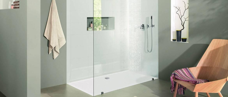 nouveau receveurs de douche ultra plats sur mesure shower stones. Black Bedroom Furniture Sets. Home Design Ideas