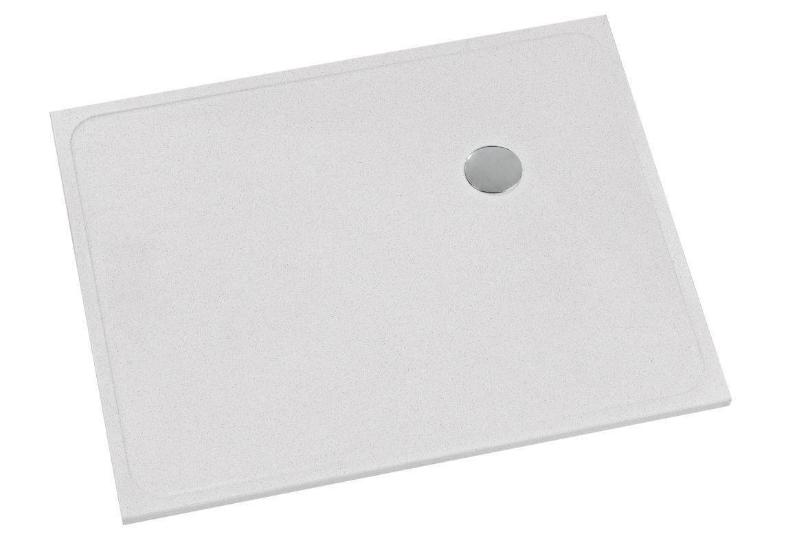 Bac de douche à l'italienne extra-plat modèle Shower-Stones à bonde