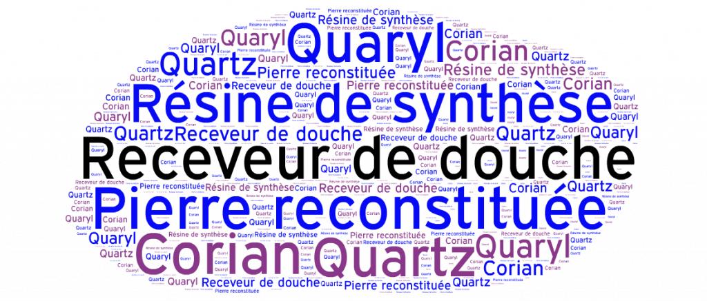 Comparaison receveurs de douche en pierre reconstituée de quartz versus résine synthétique