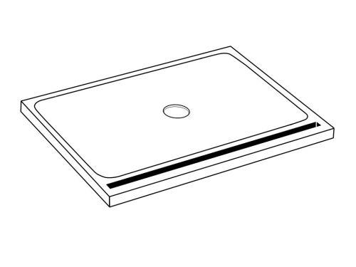 receveurs de douche bonde sur mesure extrat plat. Black Bedroom Furniture Sets. Home Design Ideas