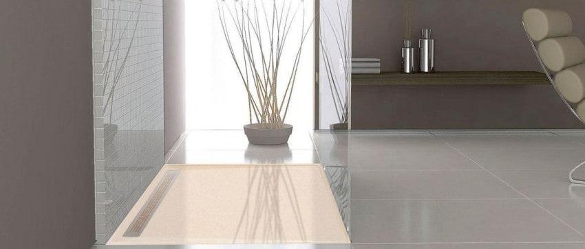 bac de douche l 39 italienne 3 cm sur mesure shower stones shower stones. Black Bedroom Furniture Sets. Home Design Ideas