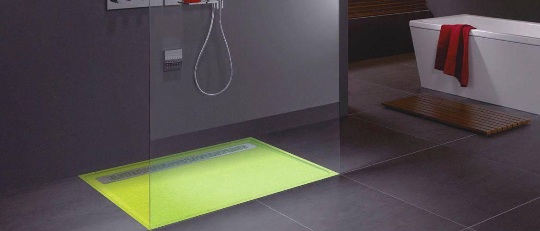 Receveur de douche sur mesure extra plat en pierre for Receveur salle de bain