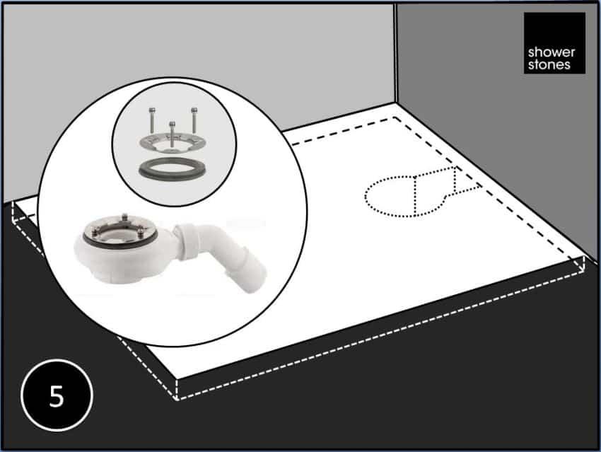 Poser un receveur de douche extra-plat Shower-Stones étape 5