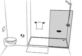 aménagement de salles de bains pour handicapés. Etape 2. Shower Stones