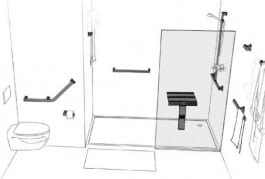 aménagement de salles de bains pour handicapés. Etape 3. Shower Stones