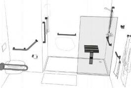 aménagement de salles de bains pour handicapés. Etape 4. Shower Stones.