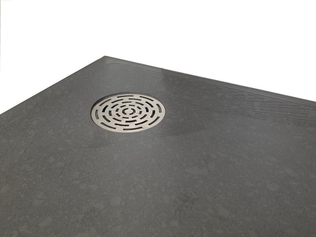 Receveur de douche sur mesure à grille inox 90 mm
